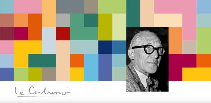 Die Perlon-Rips-Farbgebung ist inspiriert durch die Farbklaviatur von Le Corbusier (1887–1965), dem weltbekannten Architekten, Designer, Maler und Stadtplaner.