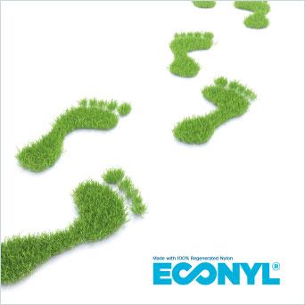 ECONYL: Das Garn aus 100 % recycelten Fasern – umweltschonend und langlebig.