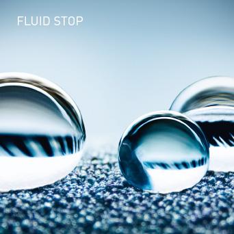 FLUID STOP: Vollkommen undurchlässig für Flüssigkeiten.