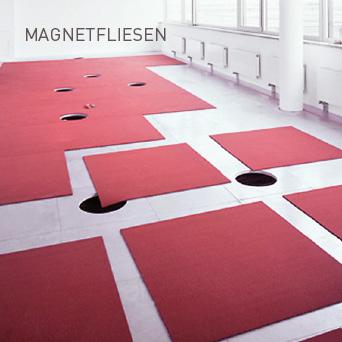 MAGNETFLIESEN: Chemie- und klebstofffreie Bodenbeläge, die sich schnell an neue Gegebenheiten anpassen.