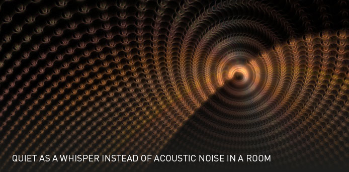 Quiet As a Whisper Instead of Acoustic Noise In a Room